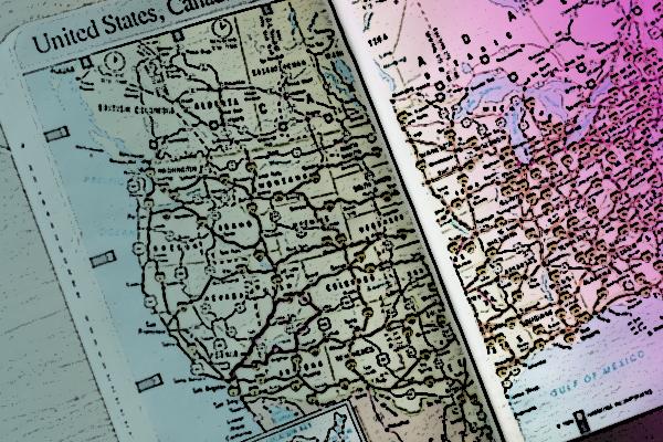 US map artwork