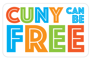 CUNY CAN BE FREE sticker